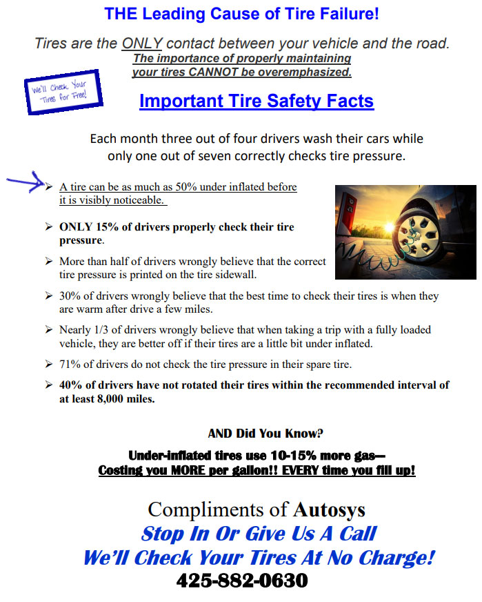 Autosys FREE Tire Safety Inspection